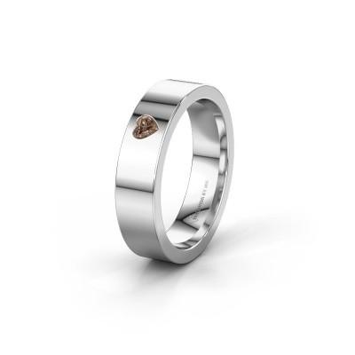 Bild von Ehering WH0101L15BPHRT 375 Weißgold Braun Diamant ±5x2 mm