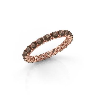 Foto van Ring Vivienne 2.7 375 rosé goud rookkwarts 2.7 mm