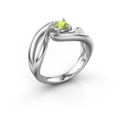 Ring Kyra 925 zilver peridoot 4 mm
