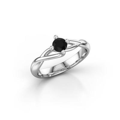Foto van Ring Paulien 950 platina zwarte diamant 0.36 crt