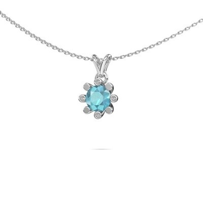 Picture of Pendant Carola 2 585 white gold blue topaz 6 mm