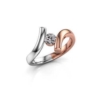 Ring Amy 585 rosé goud diamant 0.30 crt