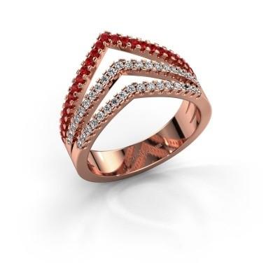 Foto van Ring Kendra 375 rosé goud robijn 1.2 mm