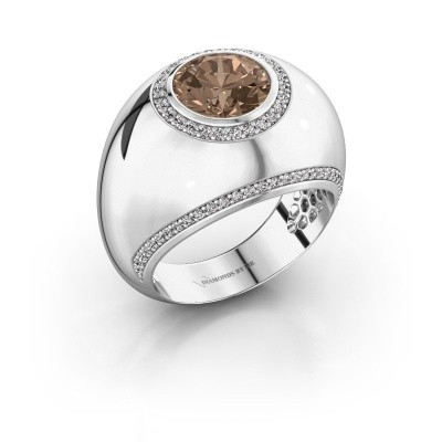 Ring Roxann 585 white gold brown diamond 2.41 crt