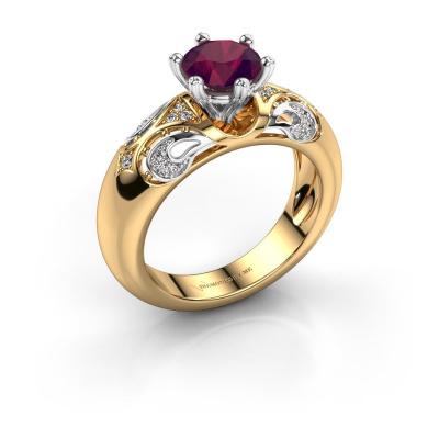 Ring Maya 585 gold rhodolite 6.5 mm