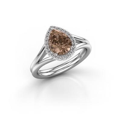 Foto van Verlovingsring Elenore 950 platina bruine diamant 1.097 crt