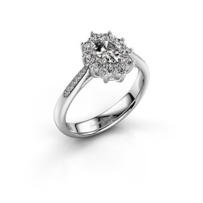 Foto van Verlovingsring Leesa 2 950 platina diamant 0.50 crt