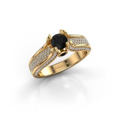 Bague de fiançailles Jeanne 2 375 or jaune diamant noir 1.138 crt