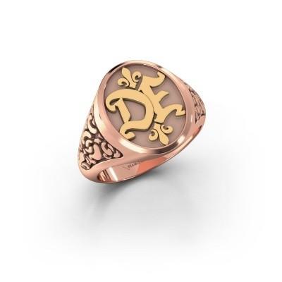 Foto van Monogram ring Brian 585 rosé goud