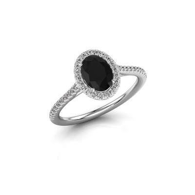 Engagement ring Seline 2 950 platinum black diamond 1.241 crt
