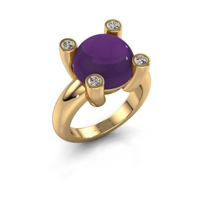 Foto van Ring Janice RND 585 goud amethist 12 mm