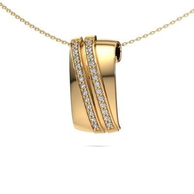 Foto van Hanger Sithri 585 goud diamant 0.312 crt