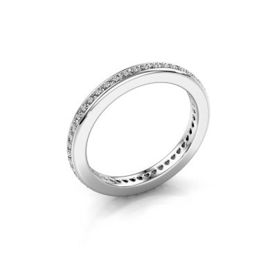 Photo de Bague superposable Elvire 2 585 or blanc diamant 0.345 crt