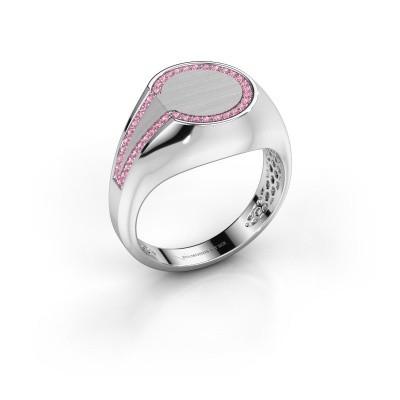 Men's ring Gijs 950 platinum pink sapphire 1 mm