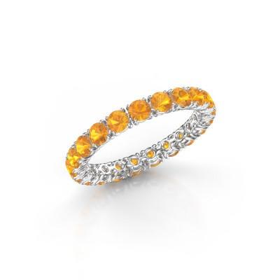 Foto van Ring Vivienne 2.9 950 platina citrien 2.9 mm