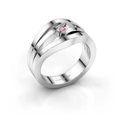 Ring Carlijn 585 Weißgold Pink Saphir 2 mm