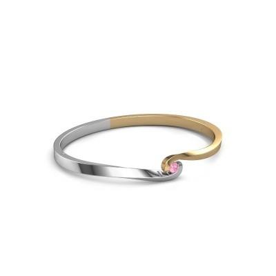 Slavenarmband Sheryl 585 goud roze saffier 3.7 mm