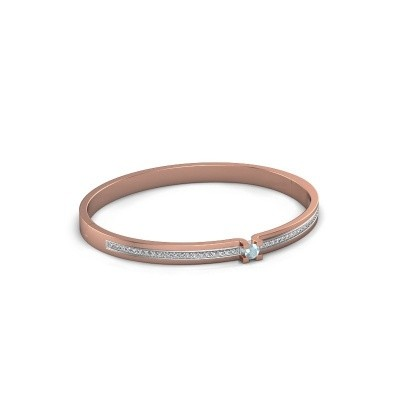Armband Myrthe 585 rosé goud aquamarijn 4 mm