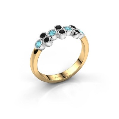 Foto van Ring Kayleigh 585 goud blauw topaas 2.4 mm