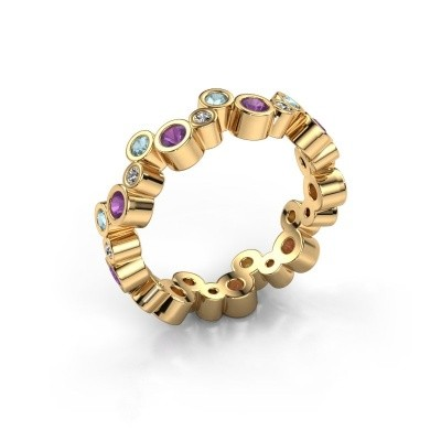 Picture of Ring Tessa 585 gold amethyst 2.5 mm