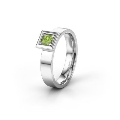 Picture of Wedding ring WH2112L14A 950 platinum peridot ±4x1.7 mm