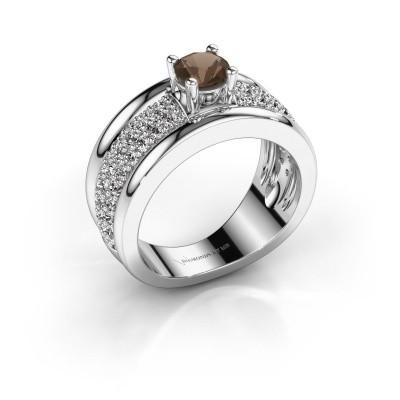 Foto van Ring Alicia 925 zilver rookkwarts 5 mm