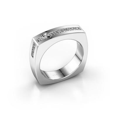 Foto van Mannen ring Arend 925 zilver zirkonia 3.8 mm