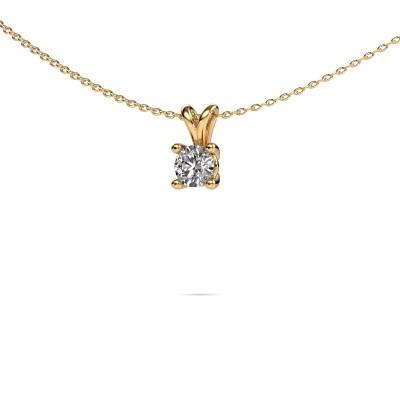 Foto van Ketting Sam round 375 goud diamant 0.40 crt
