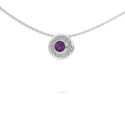 Picture of Necklace Gretta 925 silver amethyst 4 mm