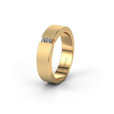 Trouwring WH2136L15E 375 goud diamant ±5x2.6 mm