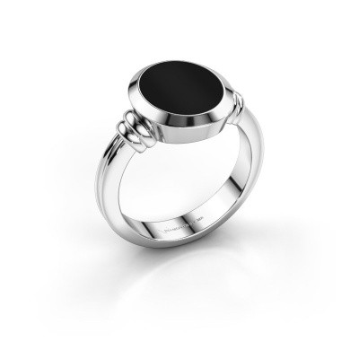 Picture of Signet ring Jake 2 950 platinum onyx 12x10 mm