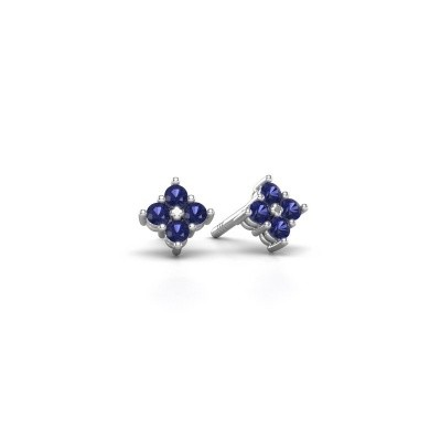 Picture of Stud earrings Maryetta 925 silver sapphire 2 mm