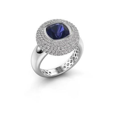 Foto van Ring Keshia 925 zilver saffier 8 mm