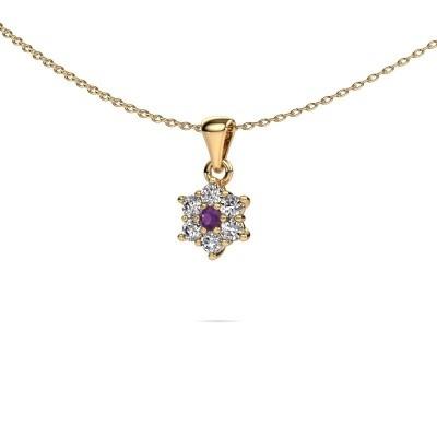 Ketting Chantal 375 goud amethist 2.4 mm