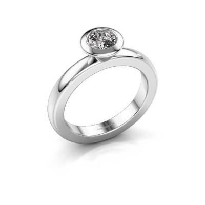 Stacking ring Trudy Round 950 platinum diamond 0.50 crt