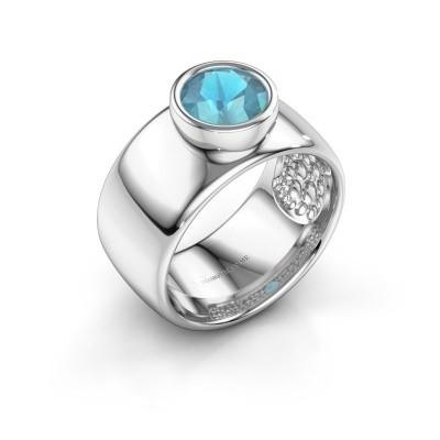 Ring Klarinda 925 silver blue topaz 7 mm