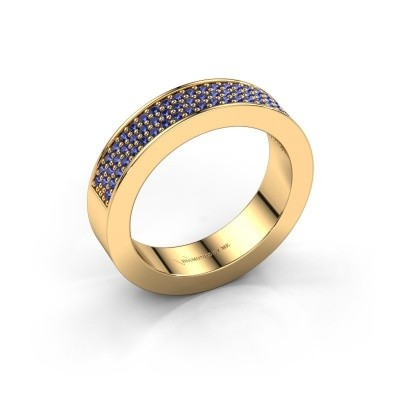 Ring Lindsey 2 375 gold sapphire 1.1 mm