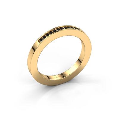 Aanschuifring Loes 1 585 goud zwarte diamant 0.096 crt