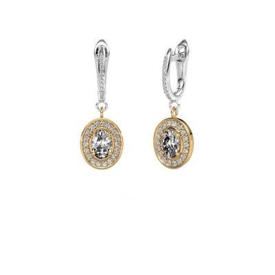 Foto van Oorhangers Layne 2 585 goud diamant 1.99 crt