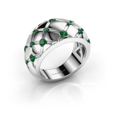 Ring Imke 585 Weißgold Smaragd 2.5 mm