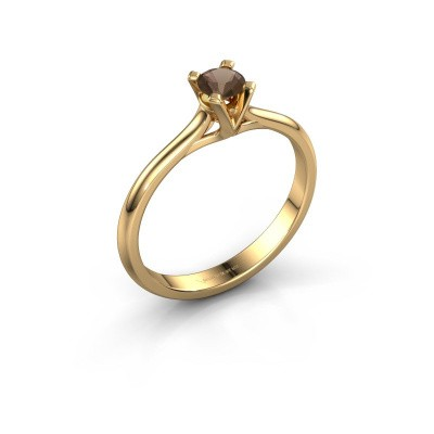 Foto van Verlovingsring Isa 1 375 goud rookkwarts 4 mm