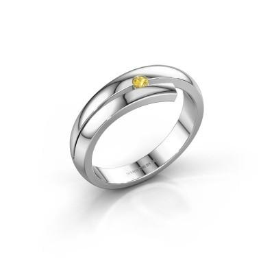 Ring Shela 925 zilver gele saffier 2.2 mm