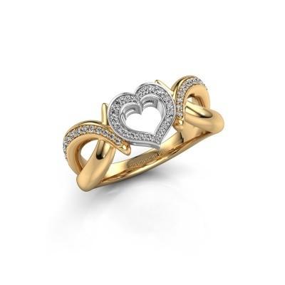 Ring Earlie 2 585 goud zirkonia 1.1 mm