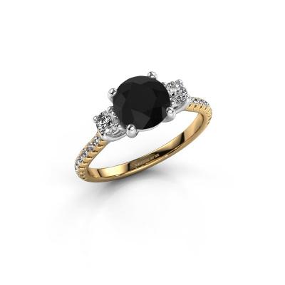 Verlobungsring Jesica 585 Gold Schwarz Diamant 2.18 crt