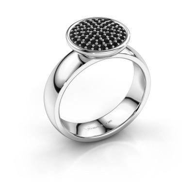 Foto van Ring Tilda 950 platina zwarte diamant 0.366 crt