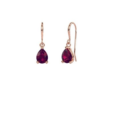Picture of Drop earrings Laurie 1 375 rose gold rhodolite 8x5 mm