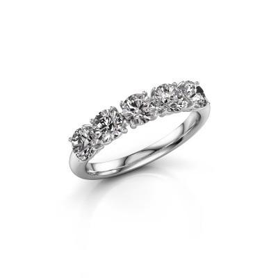 Picture of Ring Vivienne Half 950 platinum diamond 1.800 crt
