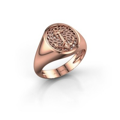 Heren ring Roger 375 rosé goud