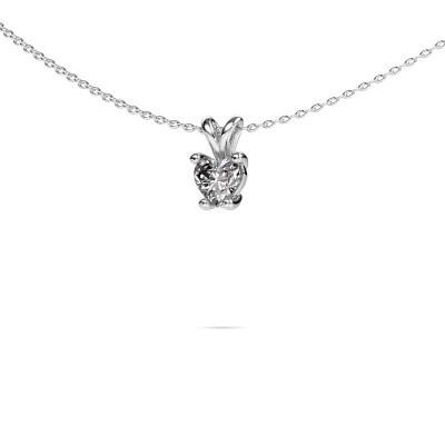 Foto van Ketting Sam Heart 585 witgoud diamant 0.50 crt