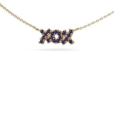 Ketting XoX 375 goud saffier 1.5 mm